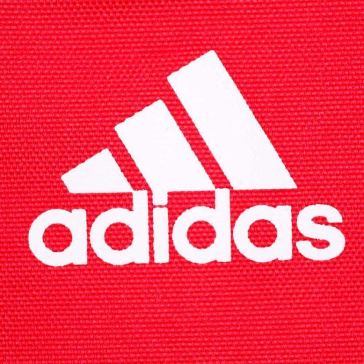 adidas红色双肩包
