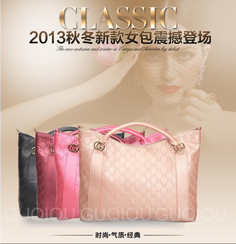古奇欧guqiou 2014最新款欧美大牌女包时尚牛皮简约