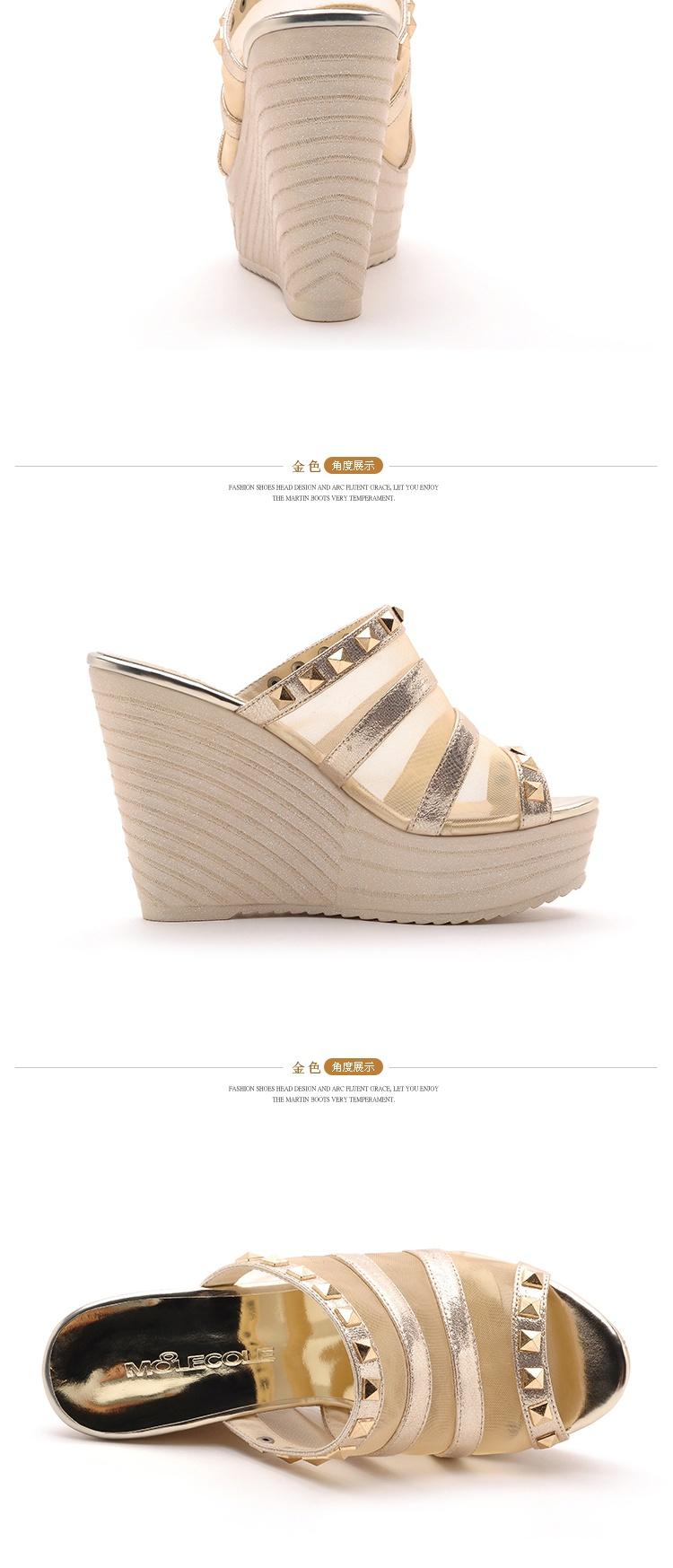 鞋女中粗跟单鞋