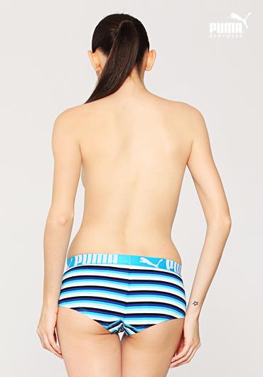 马 女士精梳棉内裤全棉纯棉平角裤低腰条纹性感透气PF116S1202