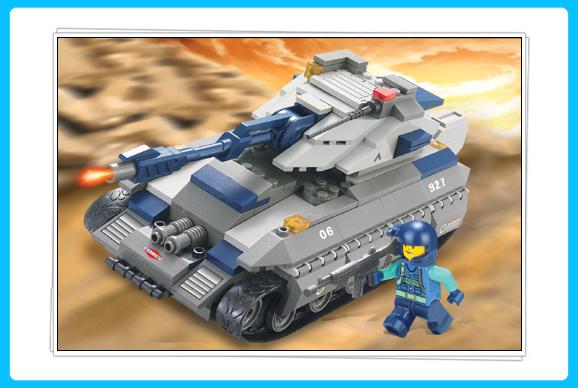 开智积木巨型坦克_积木简笔画