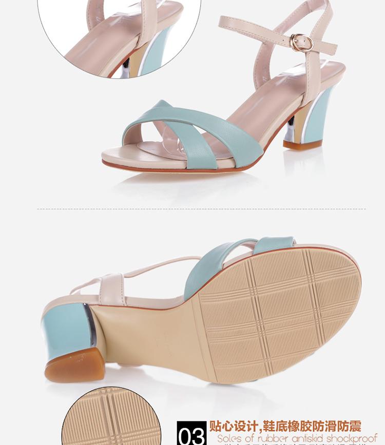 大东2014专柜夏季新款英伦高跟凉鞋女
