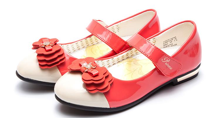 迪士尼公主(disney)2013新品女童休闲童鞋女皮鞋单鞋