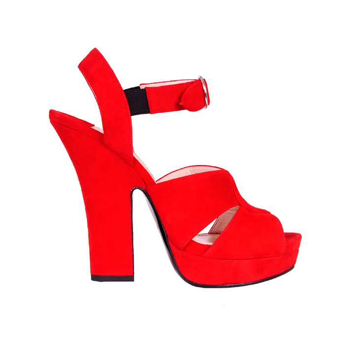 prada 普拉达 女士时尚纯色粗跟凉鞋