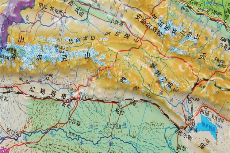 74米地图挂图2012 立体地图