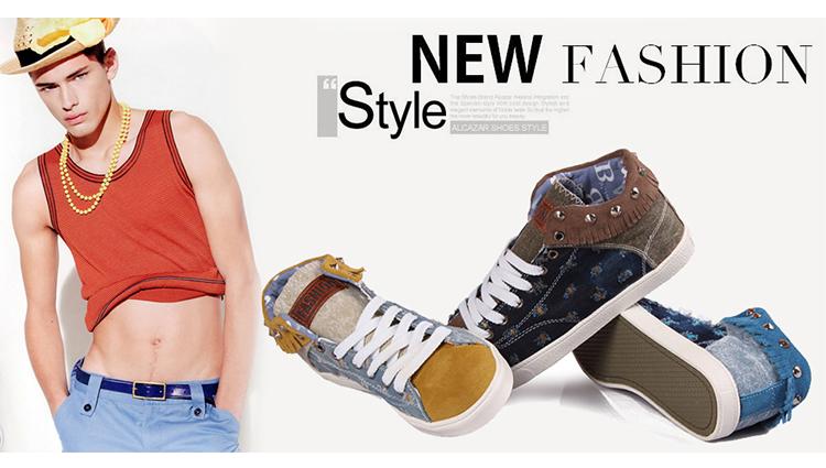 2013男士高帮帆布鞋男式韩版潮流行男生布鞋子英伦板