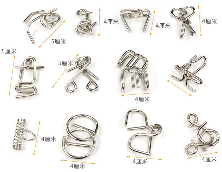 九连环十九件套图解九连环装法图解九连环装法图解
