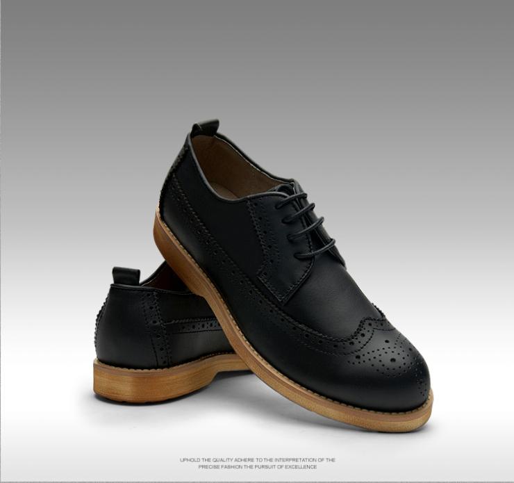 英伦布洛克男鞋
