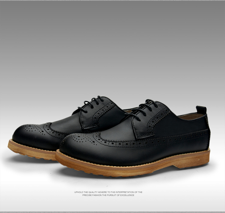 维戈2013秋季新款英伦布洛克男鞋