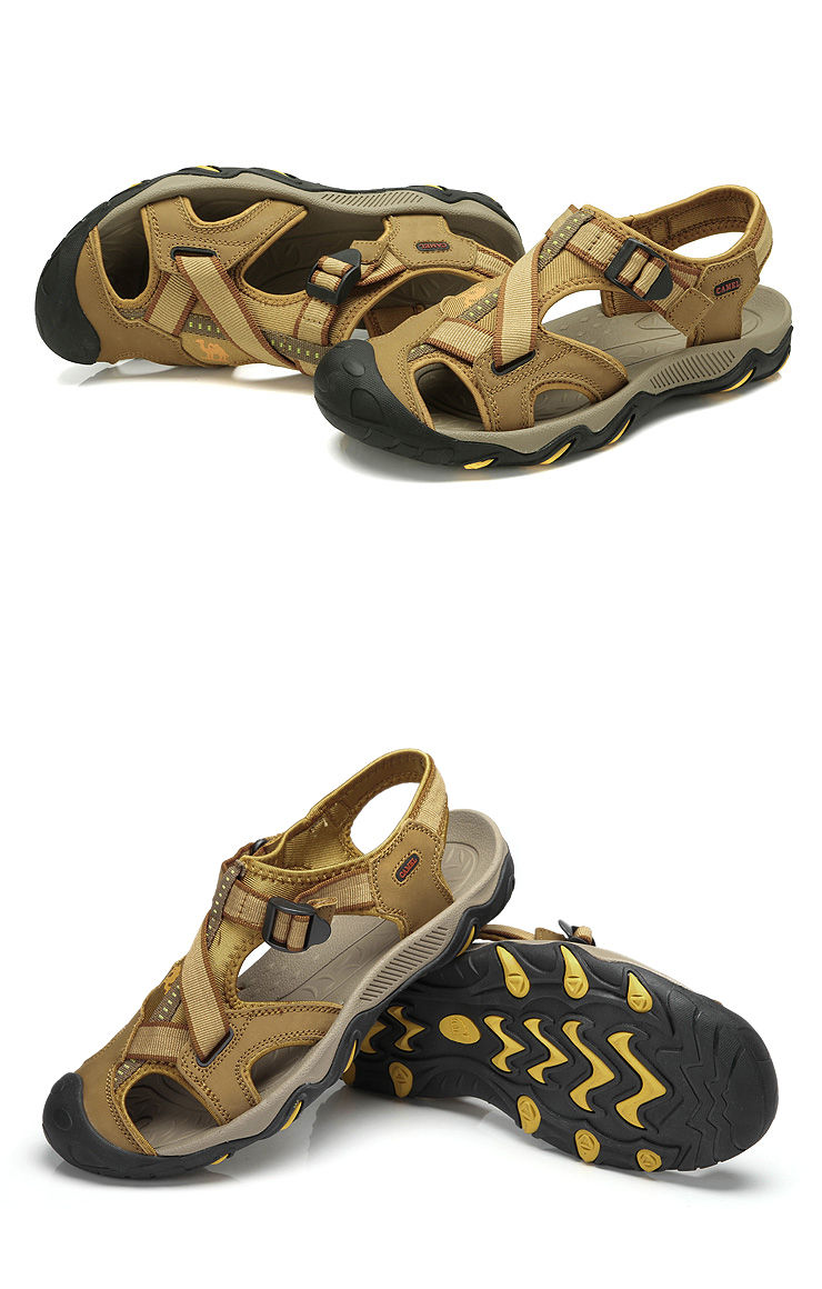 骆驼(camel)户外休闲凉鞋包头沙滩鞋