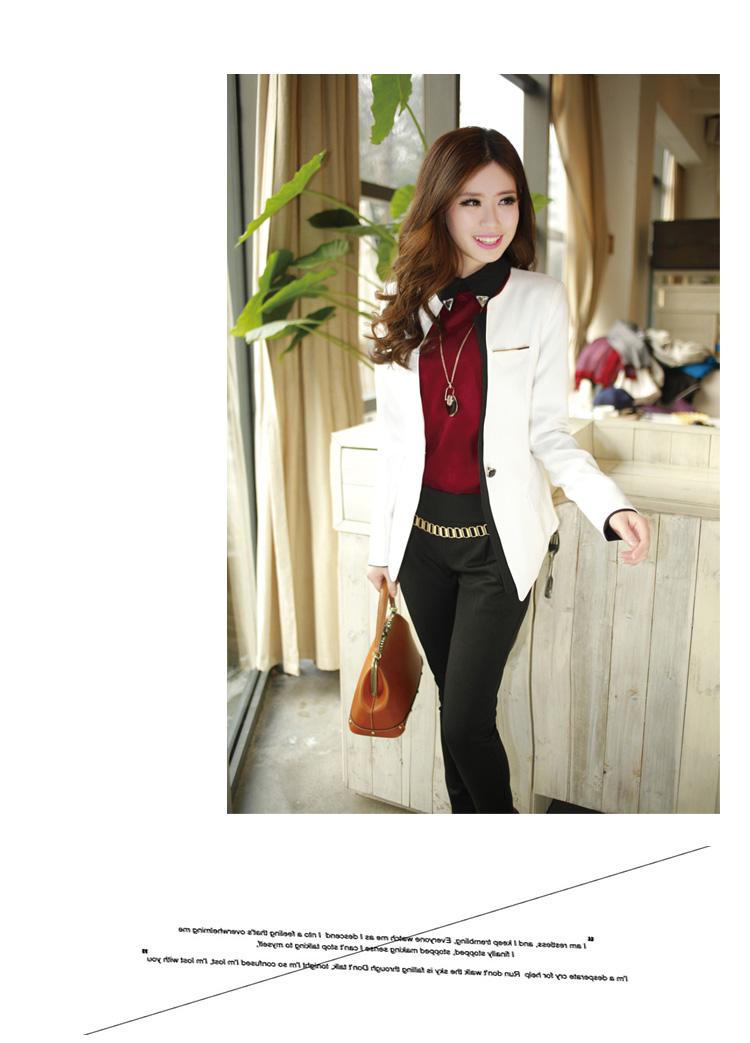 春秋装新款女装韩版修身大码秋季短外套中长款小西装