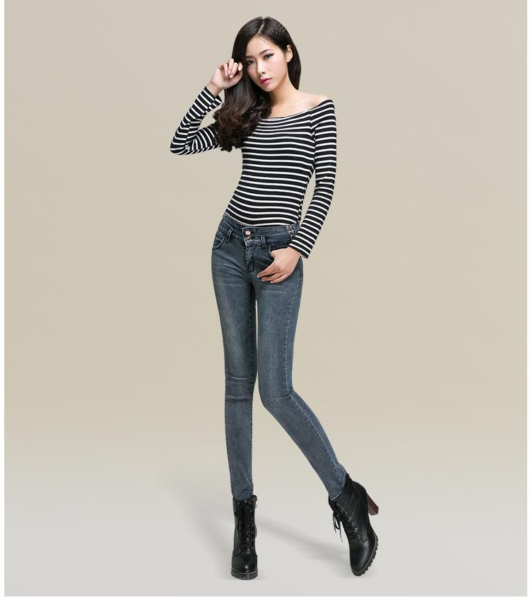包臀显瘦女牛仔裤小脚