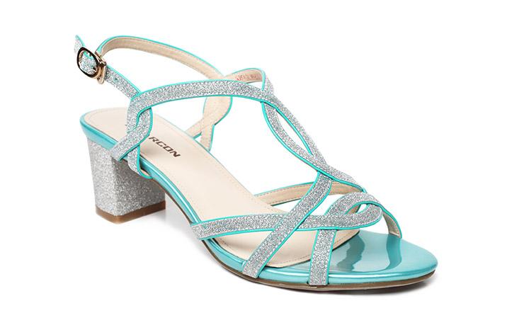 意尔康女鞋2014夏季新款时尚粗跟高跟女凉鞋s351gl