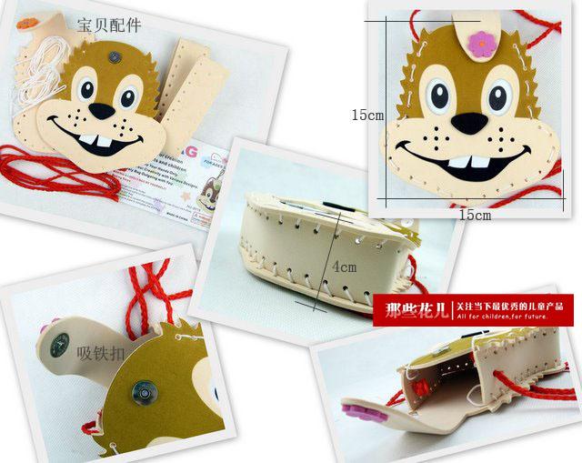 制eva磁扣包立体贴画儿童益智玩具培养孩子的动手能力 大黄猫117014