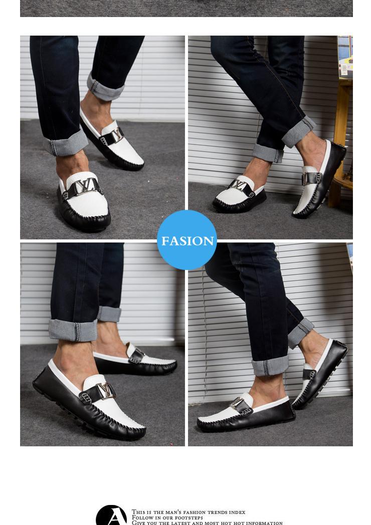 缇可夏季男士休闲鞋透气男鞋磨砂英伦潮鞋韩版驾车鞋