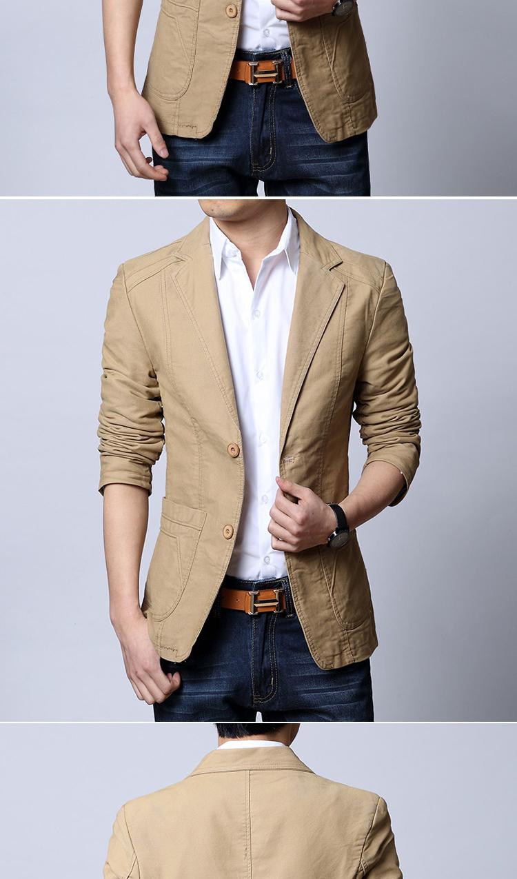 lkelake2014春新款男士西装商务潮男式小西服休闲韩版修身外套黑 图片