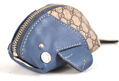 gucci 古驰 女士涂层帆布配皮短款零钱包