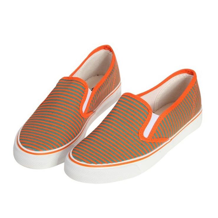 warrior2013秋季新款一脚蹬懒人鞋浅口帆布鞋女鞋