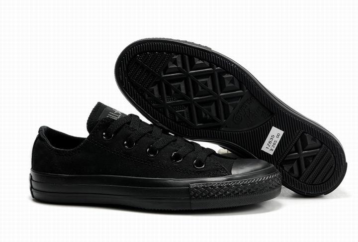 全黑帆布鞋图片