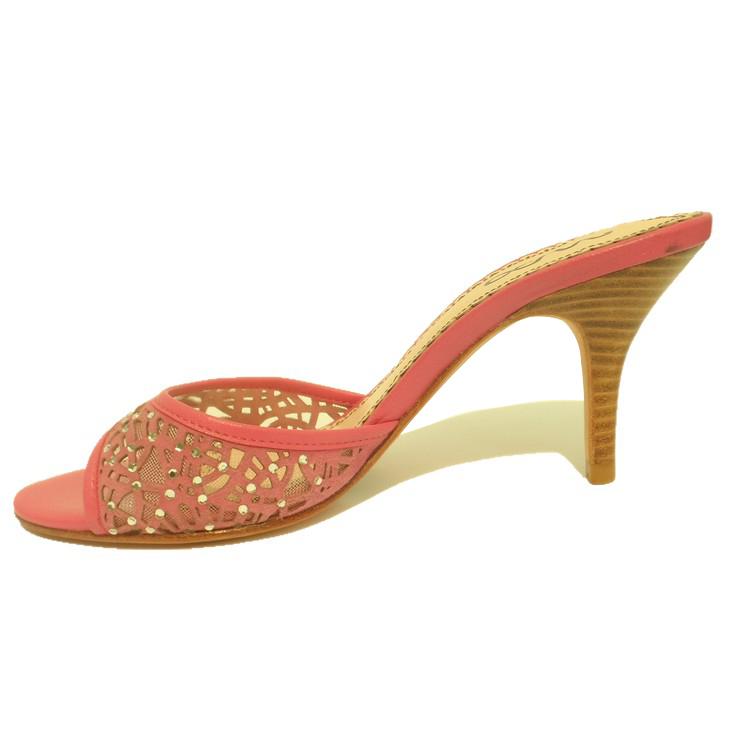 网纱镂空水钻女鞋高跟细跟女拖鞋凉鞋2012