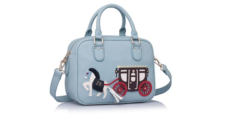 杰特莎伦女士包包2013新款韩版卡通手提小马包撞色单