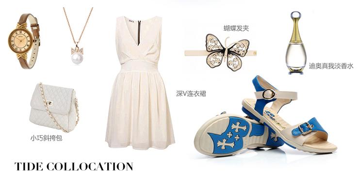 少女猫2014夏季新款韩版学生凉鞋少女平跟女鞋休闲软