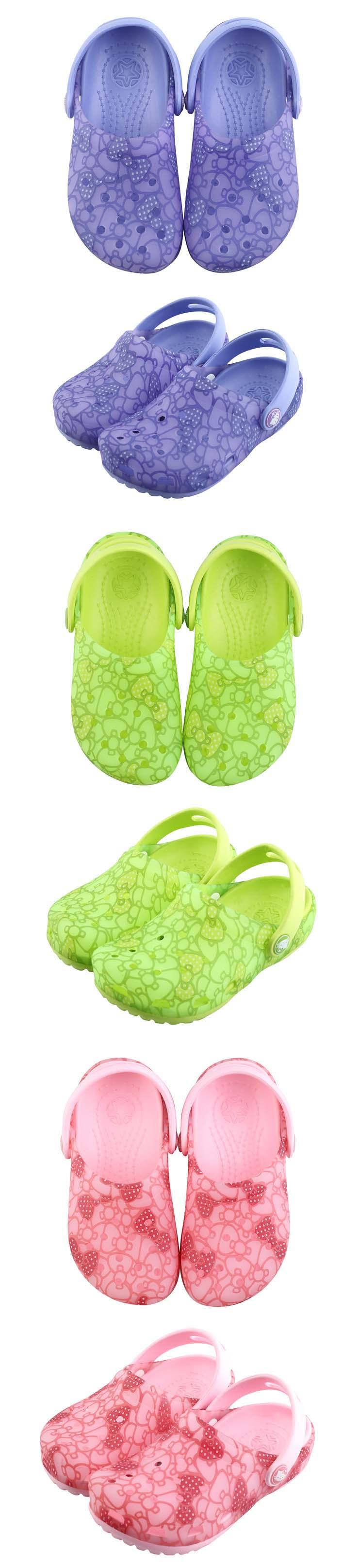 最新款hello kitty可爱夏季pvc防滑亲子果冻鞋