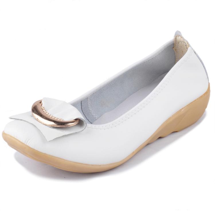 韩版休闲鞋女鞋平底平跟单鞋女皮鞋坡跟鞋豆豆鞋9909