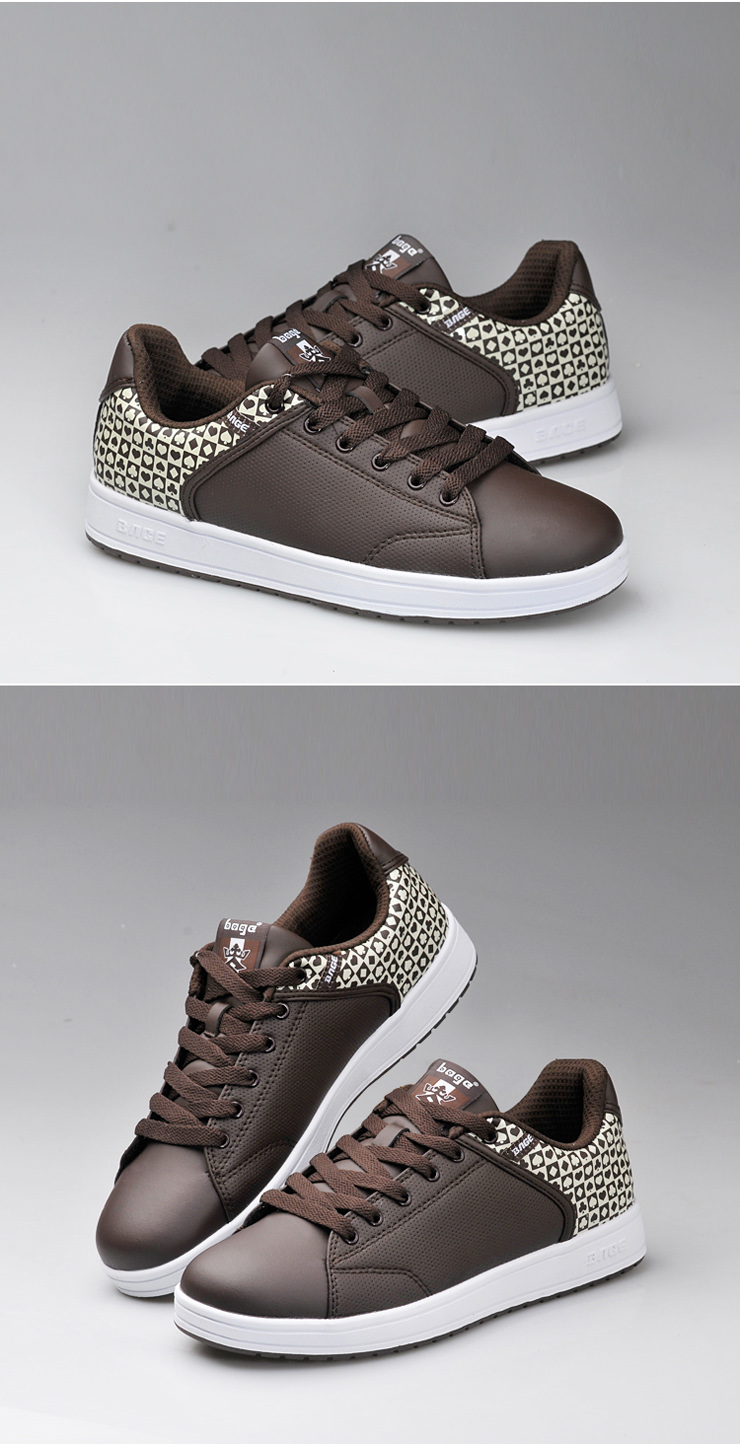 秋款板鞋男式韩版透气运动鞋潮玩休闲鞋白色