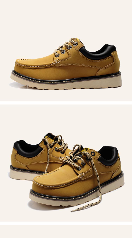 男士商务休闲鞋潮鞋英伦工装鞋大头鞋皮鞋时尚男鞋