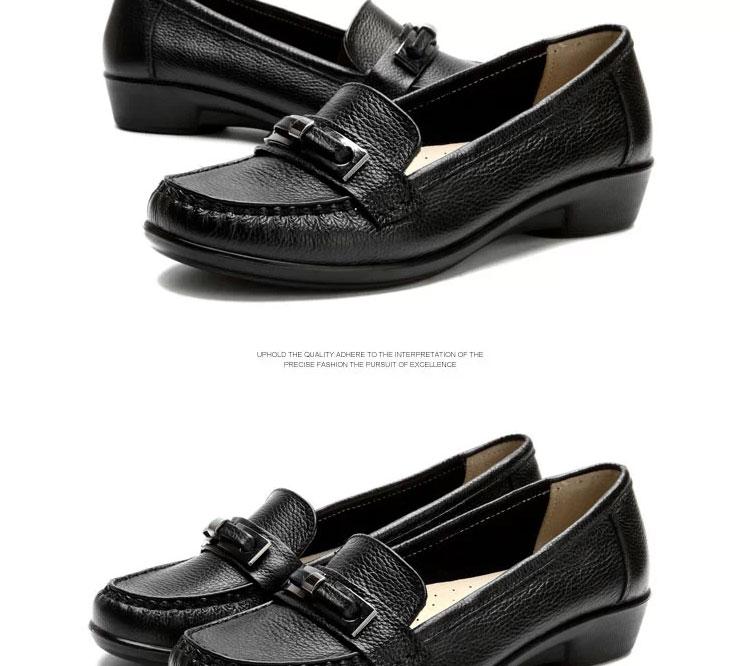 意尔康女凉鞋夏季新款真皮鞋子简约时尚女士坡跟凉鞋