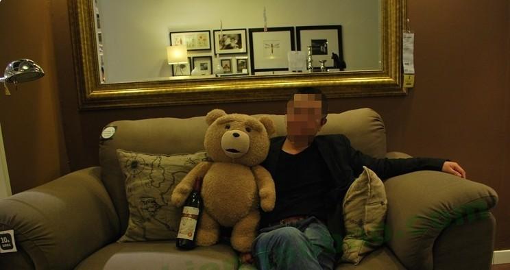 美国电影泰迪熊ted_美国电影泰迪熊ted正品正版毛线玩具姓姓公仔