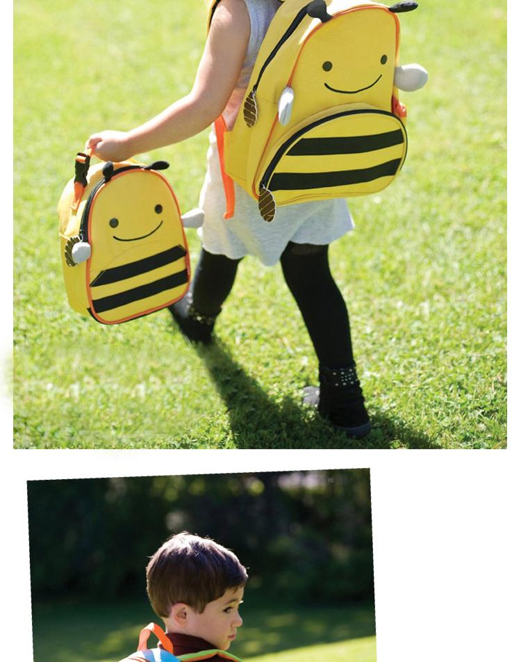 韩版双肩幼儿园宝宝小书包可爱小清新卡通帆布