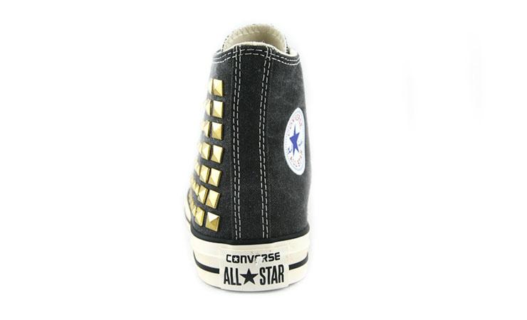 star时尚铆钉高帮帆布鞋14098