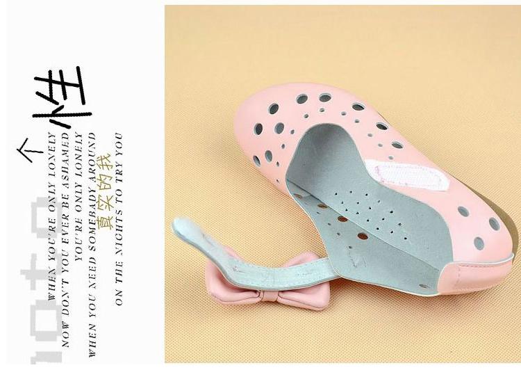 儿童蝴蝶结真皮凉鞋超软底镂空四季女童鞋