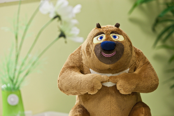 毛绒玩具 正品熊大