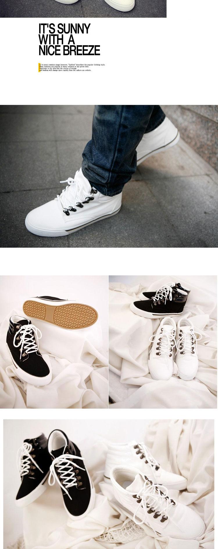男式高帮帆布鞋白色布鞋男鞋帆布鞋男生