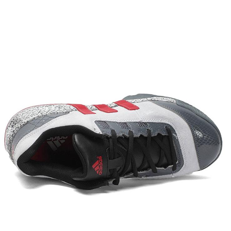 阿迪达斯adidas新款男子运动低帮防滑耐磨透气篮球鞋