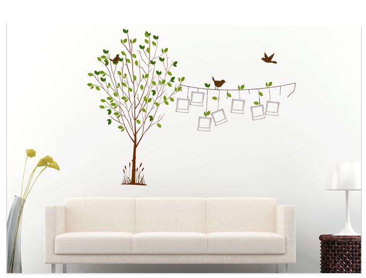 御用家喜 新款贴纸贴花贴画墙壁 客厅卧室婚房电视墙贴纸 小鸟照片相