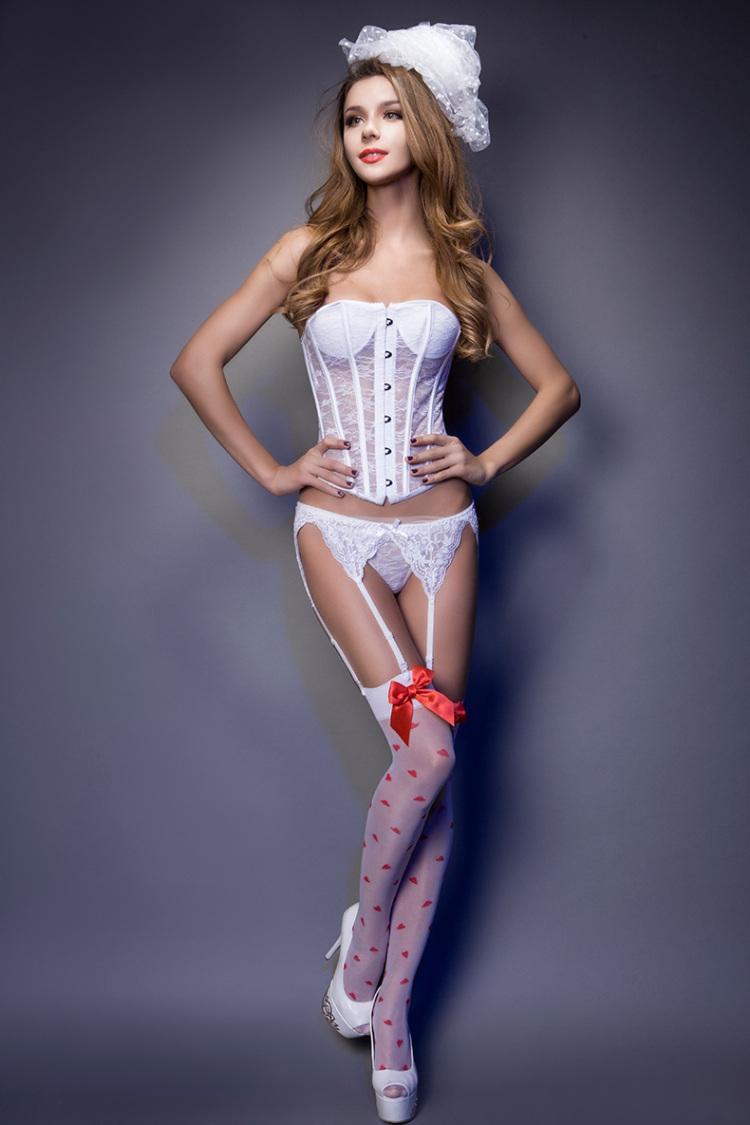 香丽芳性感蕾丝花边吊带袜 吊袜带 性感丝袜诱惑黑色吊带高清图片