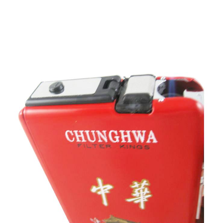 ...机香烟盒一体式 自动弹出 礼品易携烟盒 中华香烟盒 纯红色