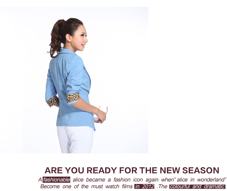 外套斯黛欧新款夏豹纹韩版修身女士小西装外套1299