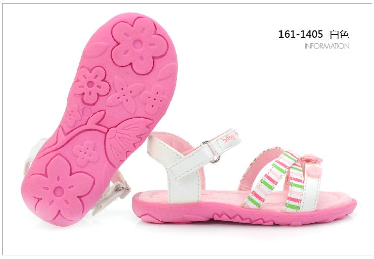 下品牌儿童鞋 夏款女宝宝舒适公主凉鞋161-1405