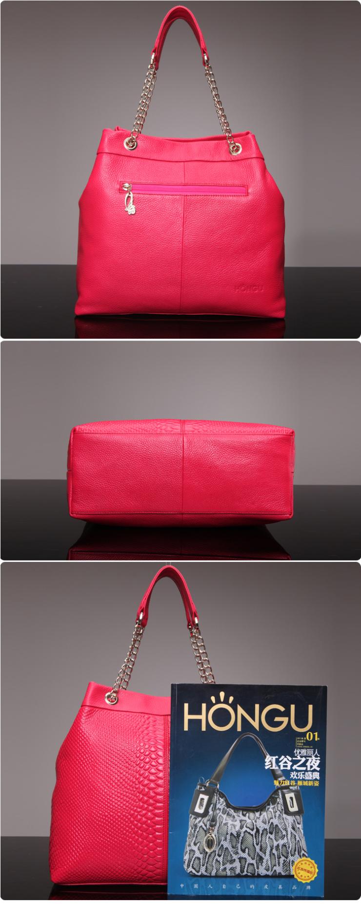 手提包红谷女包2012头层鳄鱼纹牛皮女包新款真皮包包