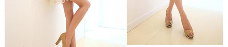 如熙2012春季新款 糖果漆皮鱼嘴豹纹防水台女鞋159