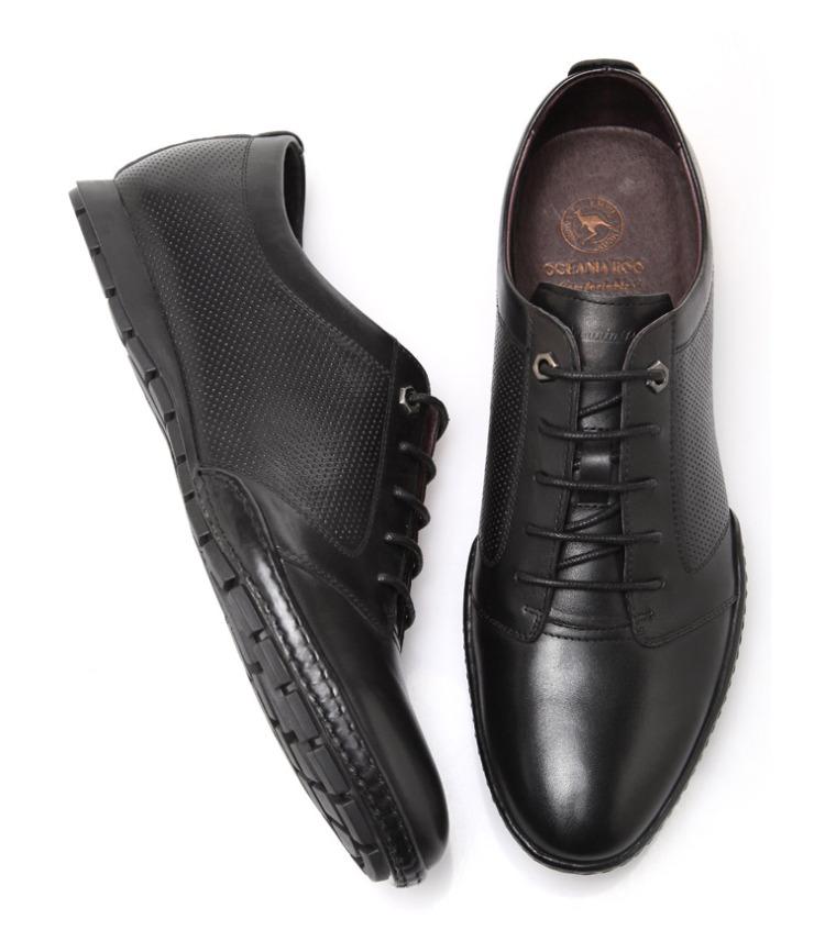 roo)男鞋新款商务休闲皮鞋