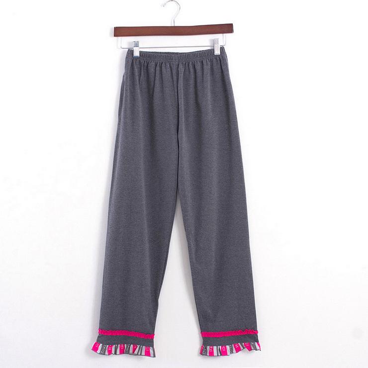 女士 春秋款 家居服 针织纯棉 长袖 睡衣套装