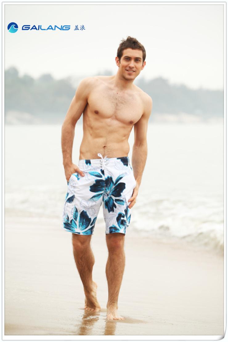 男士夏威夷花热浪沙滩裤