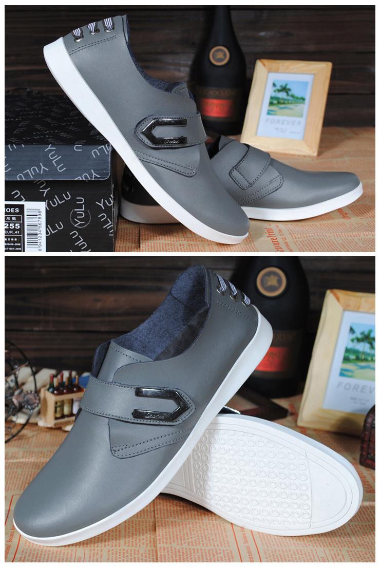 英伦风男士皮鞋真皮商务休闲鞋