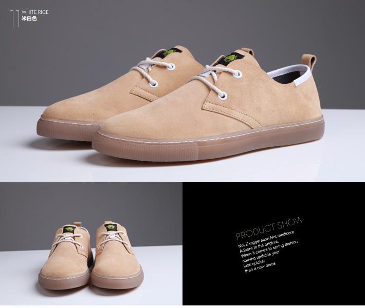 全牛皮舒适皮鞋彩色反绒皮单鞋